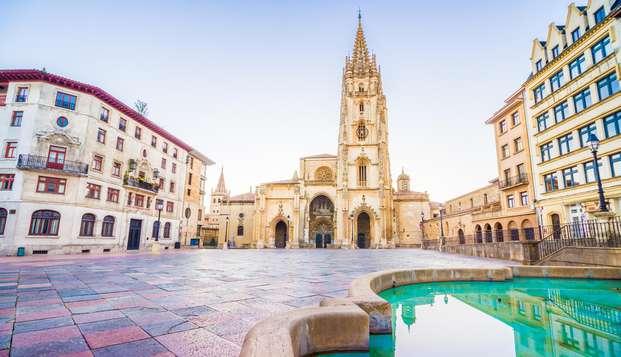 Escapada en habitación premium entre Oviedo y Gijón con sidra y cena