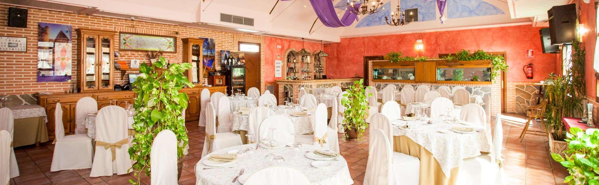 Escapada deluxe en una suite con jacuzzi y cena cerca de Madrid