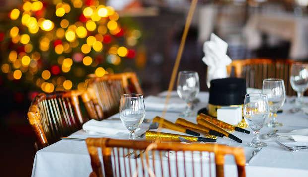 Especial fin de año: celebra fin de año con cena especial y fiesta