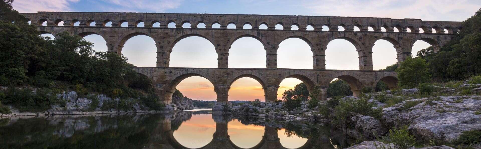 Séjour dans un ancien mas du XVIIème et visite du Pont du Gard