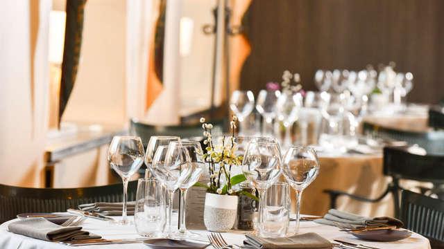 Heerlijk genieten van een gastronomisch 3-gangen diner en van luxe