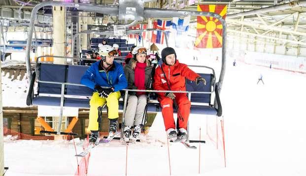Quatre heures de plaisir sur la plus longue piste de ski intérieure du Benelux ! (2 nuits minimum)