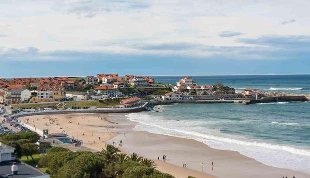 Escapada Relax con spa y botella de cava frente la costa de Cantabria