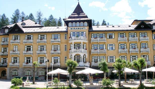 Élégant refuge de bien-être en montagne, à Cortina d'Ampezzo, en demi-pension