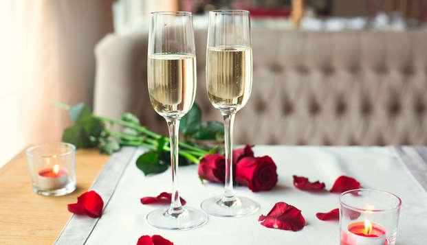 Romance et champagne dans une des plus belles baies d'Europe