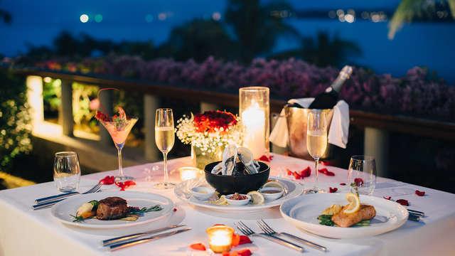 Escapada romántica con cena degustación a la luz de las velas y sidra en un castillo medieval