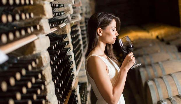 Dégustation de vins près de Castelbuono, en Ombrie