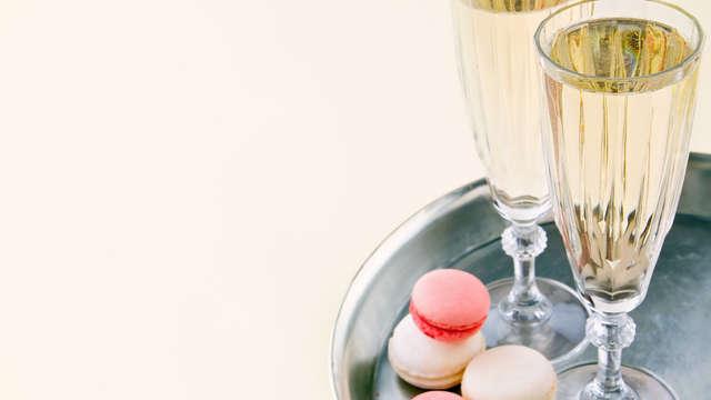 Romantisme, champagne et nuit en suite, à côté de Courchevel