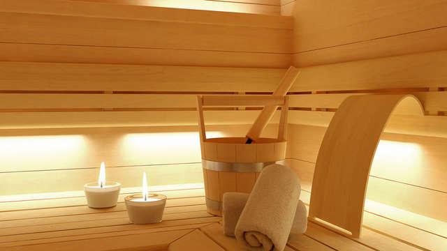 Chromothérapie dans le sauna