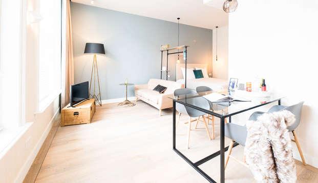 Verblijf in een mooi appartement in Schiedam bij Rotterdam