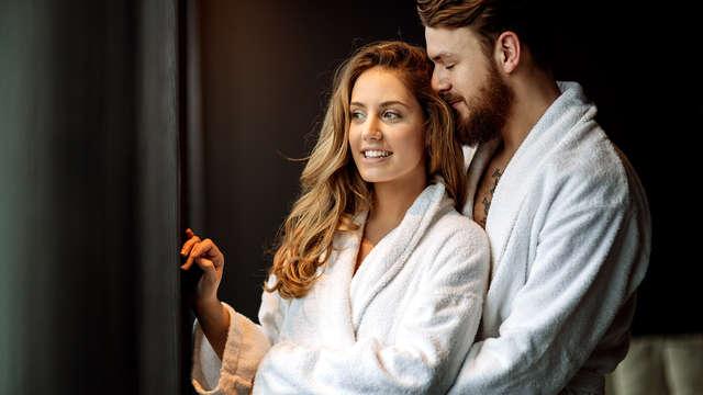 Para parejas: Decoración romántica, spa, botella de cava y bombones en el Valle de Camprodón