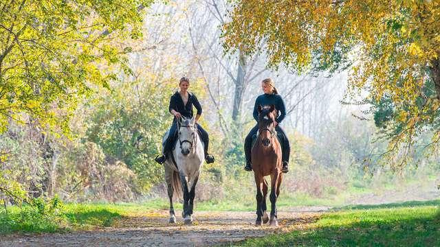 Paseo a caballo para 2 adultos