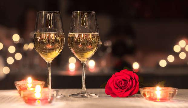 Escapade de la Saint-Valentin avec dîner aux chandelles, danse romantique et spa