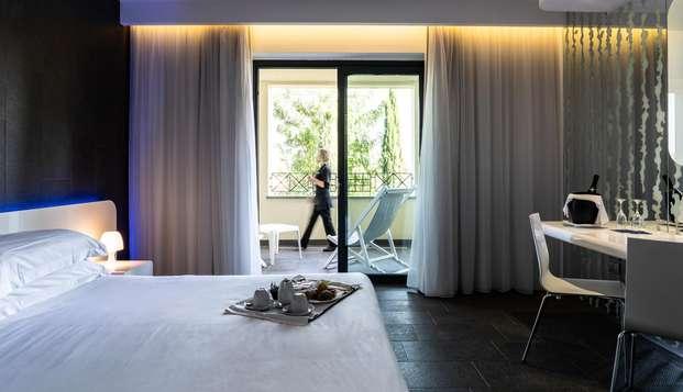 Media pensión y acceso al spa en un hermoso hotel en Porto Ercole