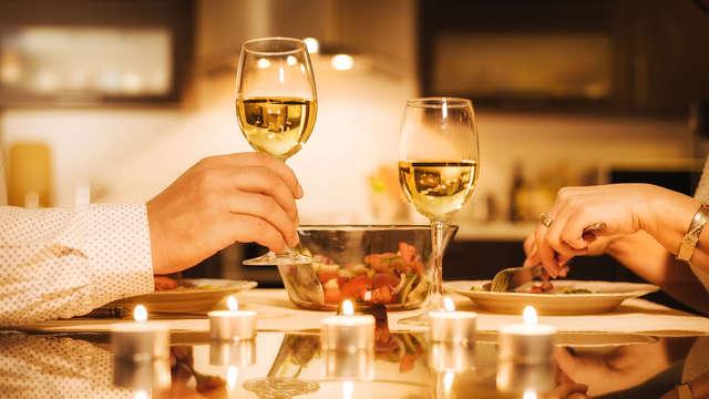 Saint Valentin romantique avec dîner et champagne dans le Lubéron