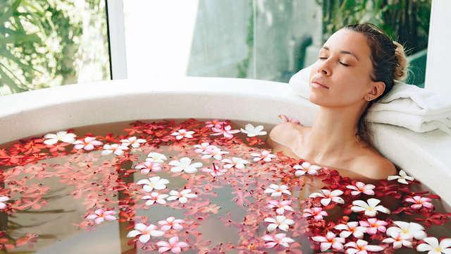 Baño Romántico en la habitación