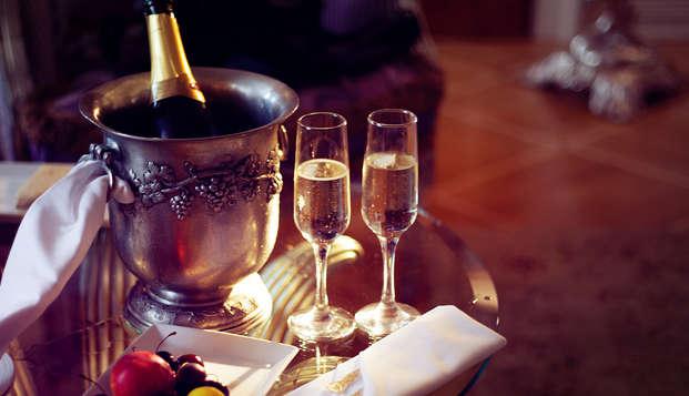 Parenthèse romantique avec champagne et chocolats aux portes de Paris
