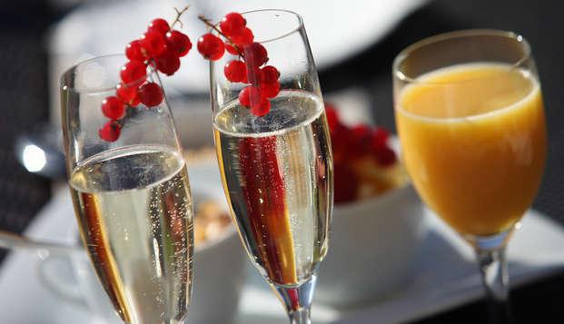 Romance au champagne et détente pour la Saint-Valentin à Massy