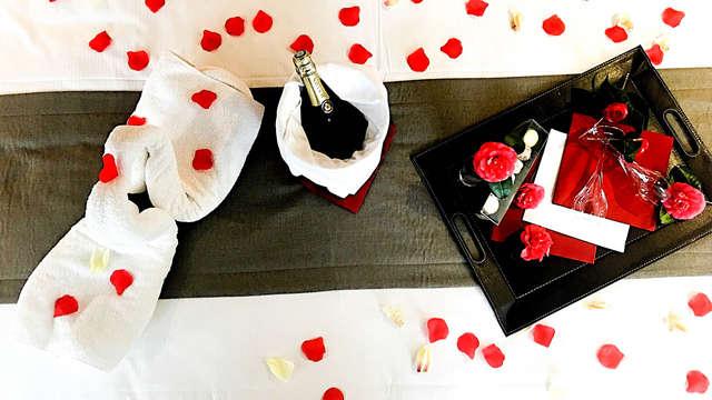 Escapada romántica con champán, macarons y pétalos de rosa en Paimpol