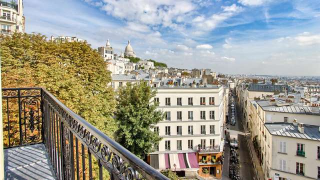 Séjour à Paris avec vue sur Montmartre !