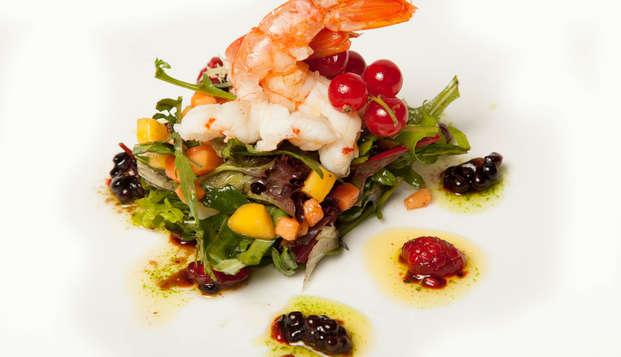 Gastronomía y Relax: Menú gourmet con bebidas incluidas, Spa y romanticismo en el Valle de Camprodón