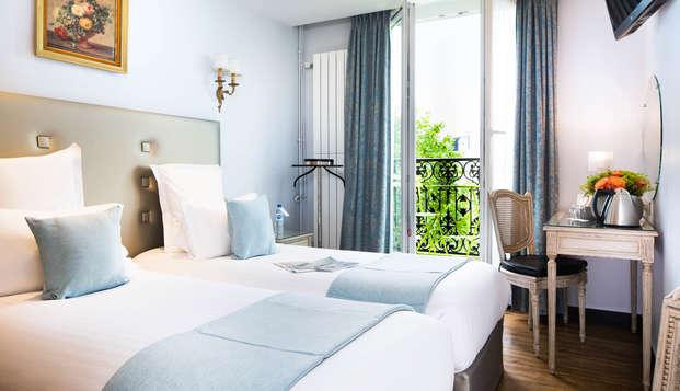 Élégance et ambiance feutrée dans un hôtel typiquement parisien