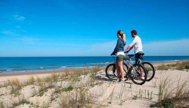 Fietsen aan de Vlaamse kust en genieten in de prive wellness