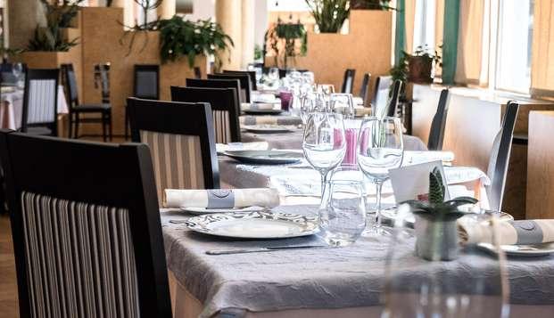 Dîner bistronomique et accès au spa thermal, près de Valmorel