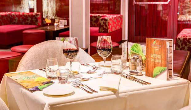 Soldes : détendez-vous avec un diner, du cava et un check-out tardif à Spa