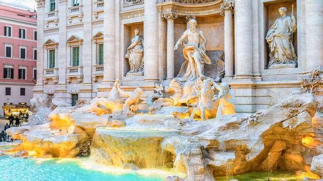 Notte a Roma: al lato della famosa Fontana di Trevi con upgrade in Superior