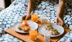 Room service pour le petit-déjeuner