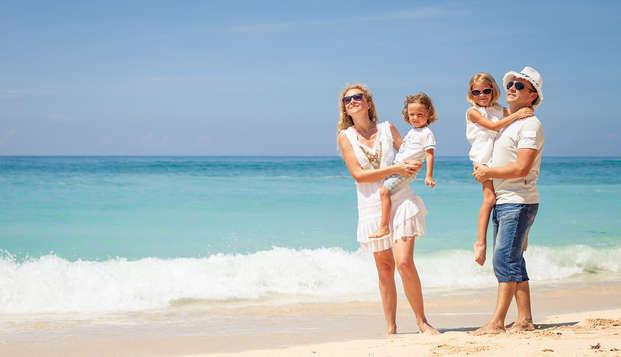 Disfruta en familia con dos niños incluidos y pensión completa en la Costa Brava