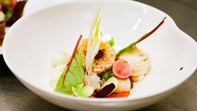 Culinair genieten en toegang tot de spa in Valkenburg