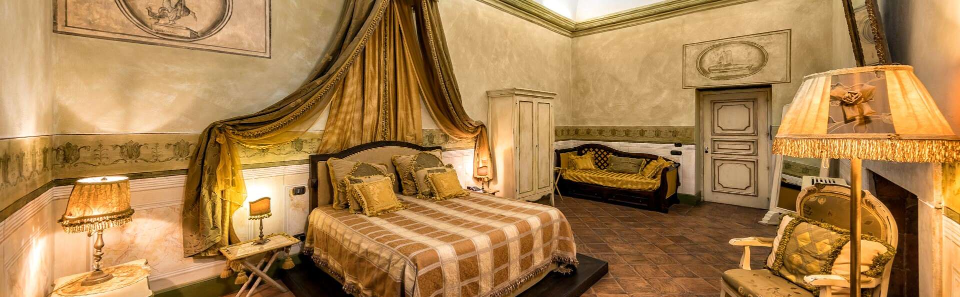 Nuit romantique au château près de Caserta dans une suite junior avec dîner et spa privé