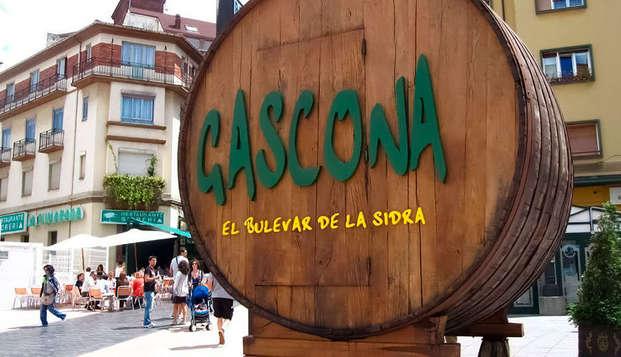 Escapada con Degustación de productos regionales en el famoso bulevar de la sidra de Oviedo