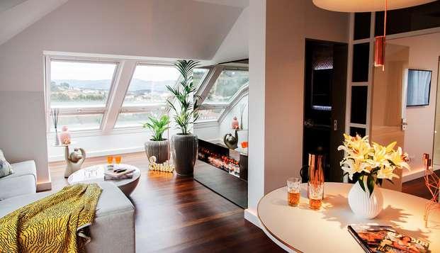 Romanticismo Top: Suite Candy con globos de helio, dulces, acceso al spa y trato VIP en Rías Baixas