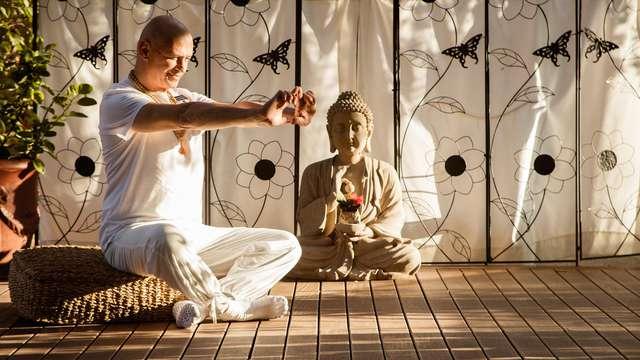 Placer para tus sentidos: Pensión completa, yoga, tai chi y mucho más en Malgrat (desde 2 noches)
