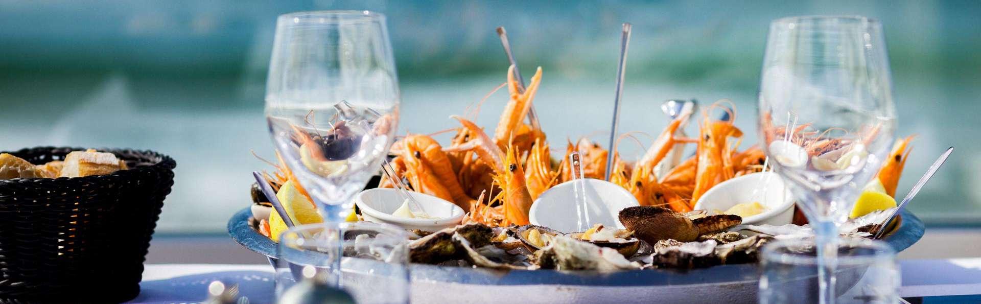 Pause détente avec plateau de fruits de mer à Biscarrosse