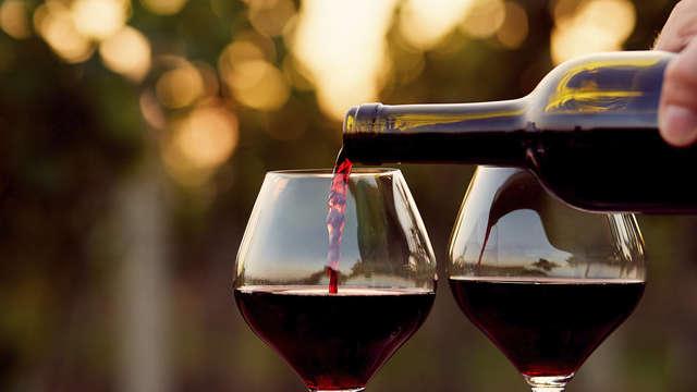Bezoek aan de wijnkelders