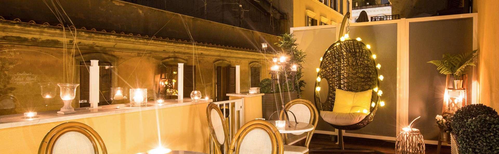 Passez un séjour dans le quartier historique de Monti à Rome, chambre quadruple avec petit déjeuner