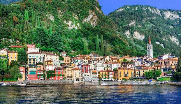 Evasión en la naturaleza en el Lago de Como