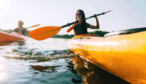 Disfruta del descenso del Sella en canoa y alójate en un hotel rural con vistas al mar