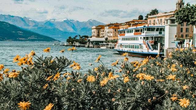 Ambiente pintoresco en Bellagio en el lago de Como