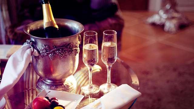 Escapada romántica con cama de matrimonio garantizada, decoración romántica y acceso al spa