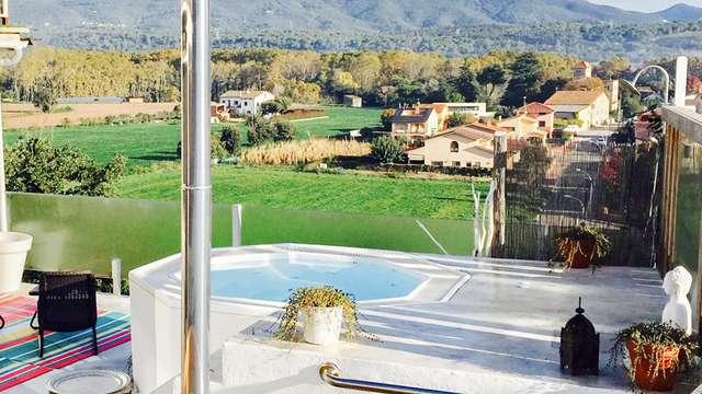 Relax total en pareja con Ofuro, spa exterior y jacuzzi exterior en el Montseny (Adults Only)