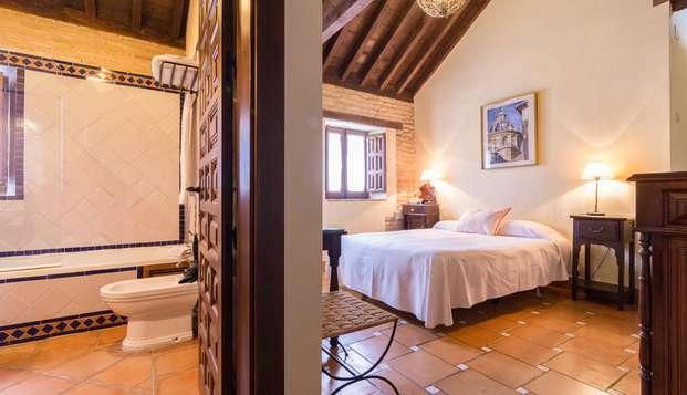 Alójate en Granada a los pies de la Alhambra en un hotel típicamente morisco con cava y mucho más