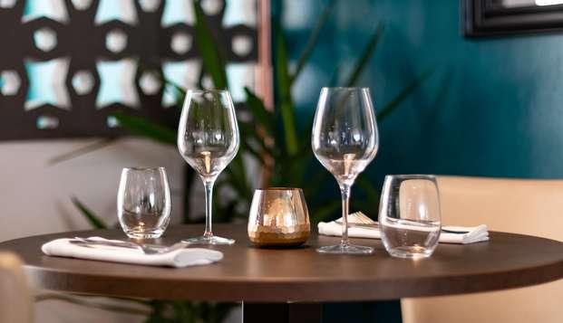 Disfruta del asueto y de una cena bajo el sol catalán