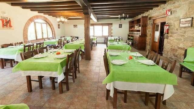 Cocina tradicional en la naturaleza del parque de Saja-Besaya