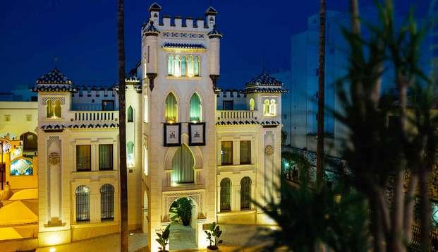 Romanticismo con cava y encanto con cena mediterránea en hotel boutique