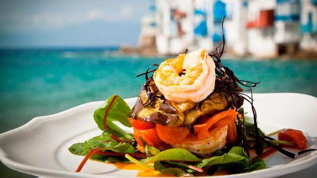 Escapada frente a la Playa de San Lorenzo con exquisita cena incluida